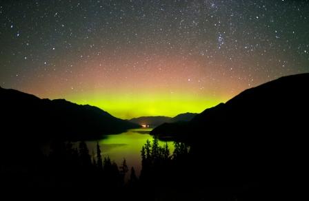 Slocan Lake Northern Lights