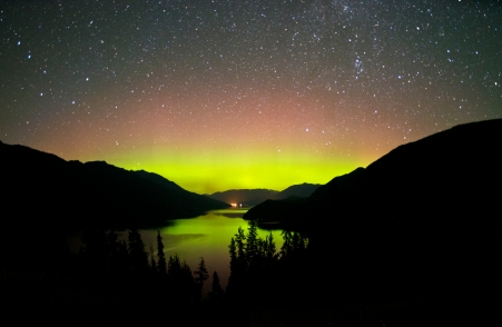 Slocan Lake Northern Lights