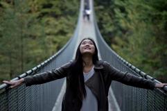 Capilano Suspension Bridge With Rina